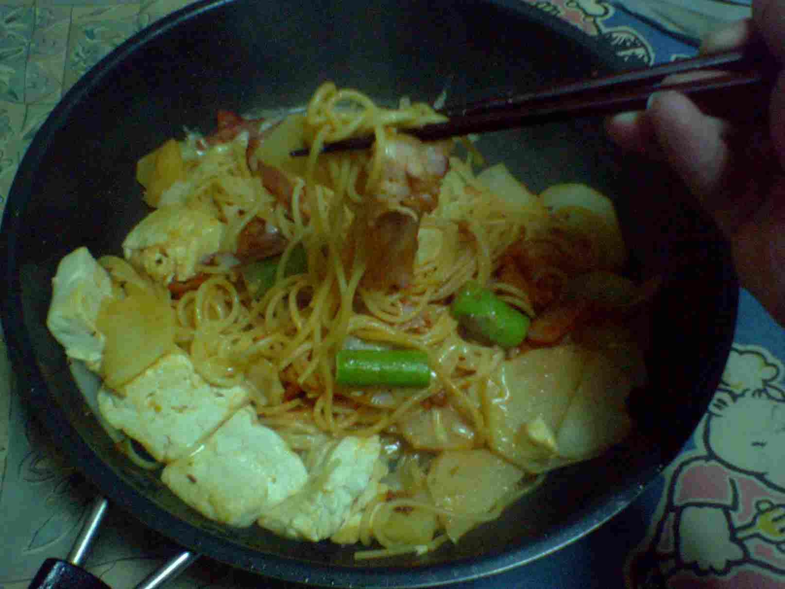 ベーコンポテトのスパゲティ